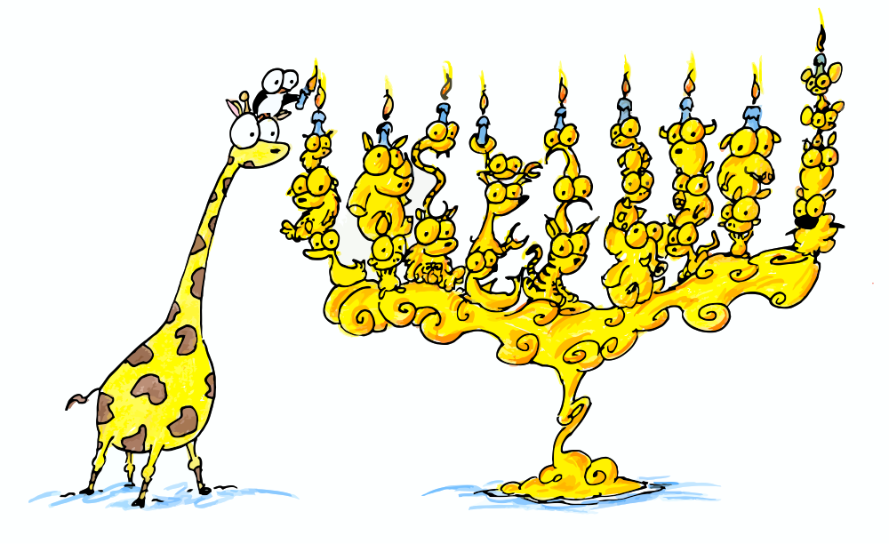animal menorah